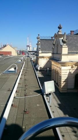 Oprava osvětlení na přístavbě historické budovy