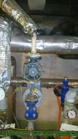 Výměna parního ventilu ve výměníkové stanici tepla