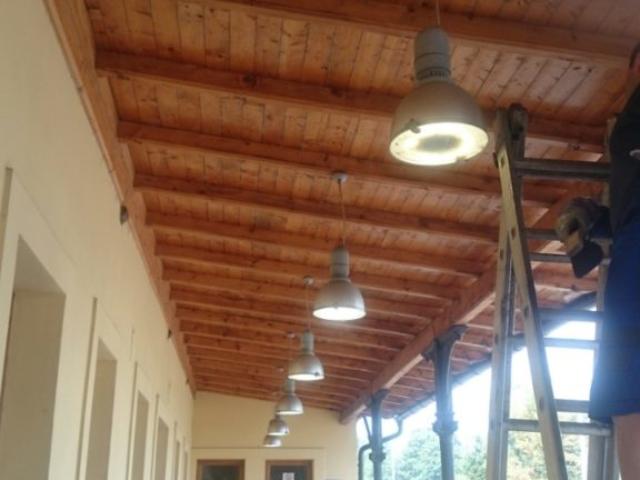 Oprava osvětlení v železniční stanici Nový Jičín